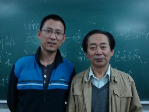 尚科中医师与老师、北京针刀总医院名誉院长、享受国务院政府特殊津贴的李力教授合影